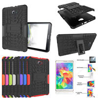 Heavy Duty Rugged Stand Case Cover For iPad /Samsung Tablet + Screen Protector