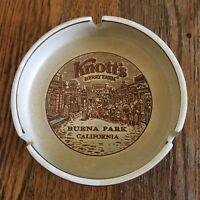 Vtg Knotts Berry Farm ash tray souvenir brown Buena Park California Japan