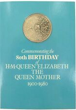 1980 QUEEN MOTHER UK 1 POUND COMMEMORATIVE COIN, MINT IN PACK.