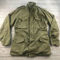 *US Military Mens Small Long Coat Cold Weather Field Long Army Green OG-107