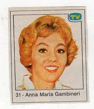 figurina - TV SORRISI E CANZONI - numero 31 ANNA MARIA GAMBINERI