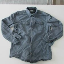 Billabong Mens Blue Jacket Size Large Button Up