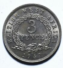 1947 H British West Africa Three 3 Pence - George VI - Lot 1380