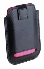 Dulwich Designs Black Leather iPhone 4 & 4S Case Pink Lining 70845