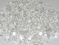 LEGO LOT OF 500 NEW TRANS-CLEAR TRANSPARENT SLOPE 30 1 X 1 X 2/3 SLOPED PARTS