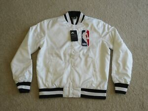 Nike Authentic NBA Skate Board SBXNBA Satin Starter Bomber Jacket Men M NEW Nice