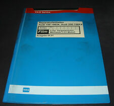 Microfich Audi 100 200 Typ 44 C3 5 Zylinder Vergaser Motor 1,9 Liter WH 04/1991!