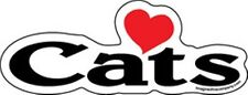 Love Cats Word Magnet