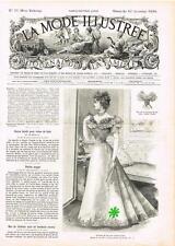 PATRON COUTURE ANCIEN : LA MODE ILLUSTREE, n°51/1896, Modèles dans l'annonce