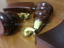 4x WOODEN FURNITURE LEG/FEET - BRASS CASTORS, CHAIRS, SOFAS M10(10mm) Fitting