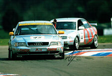 Frank BIELA SIGNED 12x8 Photo AFTAL Autograph COA AUDI Race Touring Car Driver