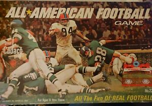 Vintage All American Football Game  Cadaco  1969 Complete