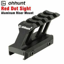 ohhunt Aluminum Riser Mount Picatinny Rail Red Dot Sight 20mm 4 Slot Mount Base