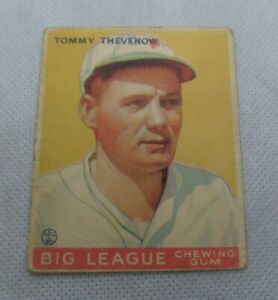 Madison Indiana Original 1933 Goudey Tommy Thevenow Baseball Card No.36 Pirates