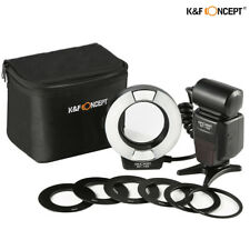K&F Concept KF-150 E-TTL Macro Ring Flash Light Speedlite 6 Adapters for Canon