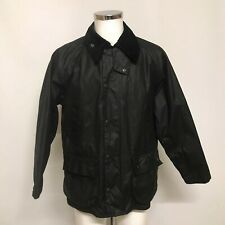 Barbour Bedale Jacket UK 38/40 S/M Men's Black Waxed Cotton Collared 351609