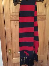 Abercrombie And Fitch Blue And Red Striped Scarf