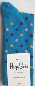 Happy Socks Women's Dot Sock - Blue - UK3.5-6.5 / EU36-40 - DOT01-6002