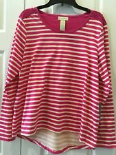 NWT Women's Size XL TUNIC TOP  CARIBBEAN JOE  $42.R       HI LO BACK