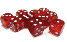 More details for 100 x large six sided red dice 19mm craps - free shipping