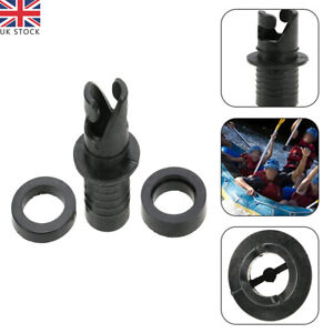 Air Pump Valve Hose Adapter Connector Fit For Inflatable Boat SUP Kayak Black UK