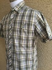 WRANGLER True Wayderers  Shirt Green-Yellow Plaid Men's XL More Like A Large A85