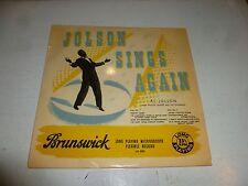 """AL JOLSON - Jolson Sings Again - UK 8-track 10"""" Vinyl LP"""