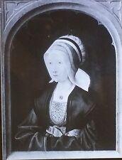 Portrait of a Lady, Master of St. Severin, Magic Lantern Glass Art Slide