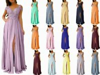 Lace Chiffon Straps Bridesmaid Prom Dresses Formal Evening Party Gown Stock 6-20