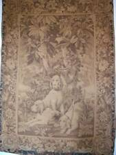 "Antique French Chateau 19th Century Large Wall Tapestry ""Hunting Dogs """