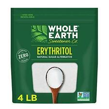 Whole Earth Sweetener Co. 100% Erythritol, 4 Pound Pouch, Natural Sugar