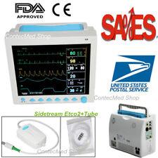 CONTEC Capnograph CO2 7-Parameter Vital Signs ICU/CCU Patient Monitor,USA 12.1''