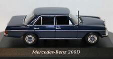 Maxichamps 1/43 Scale 940 034000 Mercedes Benz 200D 1973 Blue Diecast model car