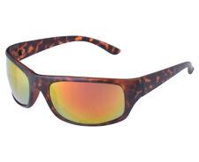 Shoreline Surf Wrap Around Sunglasses 100% UV Protection Brown Tortoise/Mirror