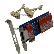 TDM800E 8FXO Asterisk card Low profile PCI express card support trixbox elastix
