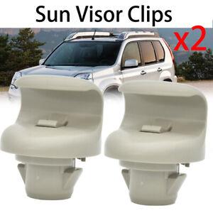 2x Sun Visor Clips Front Left Right For Nissan 350Z Infiniti FX45 FX35 G35 Juke