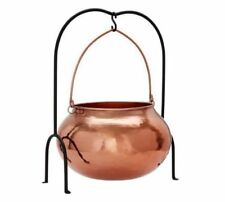 Pottery Barn Copper Cauldron With Stand Candy Halloween Large Gold Bowl Decor
