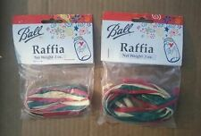 NEW TIES CHRISTMAS COLOR RIBON PAPER RED WHITE GREEN NEW LOT 2