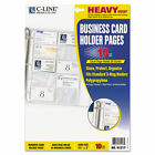 C-Line 61217 Business Card Binder Pages, 10 ct