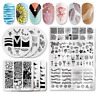 Nail Art Stamping Plates Image Stainless Steel Stamp Template Harunouta Series H