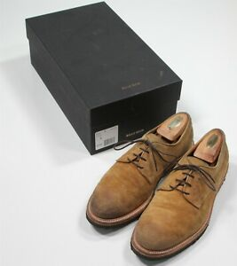 Billy Reid Tobacco Brown Suede Oxford Lace-Up Dress-Casual Shoes Men's US 8 - 41