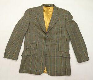Brook Taverner Mens Green Check  Jacket Blazer Size 50