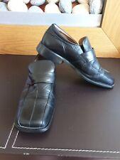 Next Mens Black Leather Smart Shoes, Size 8, Vgc