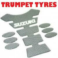 New Suzuki Logo Motorcycle Motorbike Spine Style Tank Pad Protector Carbon Look