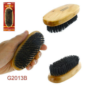 Men Boar Hair Bristle Beard Mustache Brush Military Hard Round Wood Handle Palm
