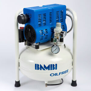 Bambi PT24 Compressor - Ultra Low Noise - Oil Free (24 Litres, 0.75 HP)