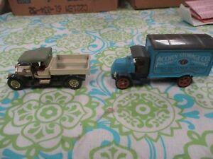 Matchbox Models of Yesterday 1920 Mack Van Y30 1984 & Crossley Flatbed Y13 1973