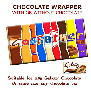 Godfather Chocolate Bar Wrapper for Baby Christening Baptism Inviting Godparents