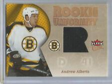 2005-06 Ultra #RU-AA Andrew Alberts  Rookie Uniformity Game Used Card