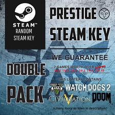 Llaves De Vapor Premium x2 Prestige al azar (Garantizada x2 + £ 14.99 Juegos) Para Inc GTA 5
